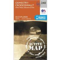 Ordnance Survey Explorer Active 240 Oswestry Map With Digital Version, Orange