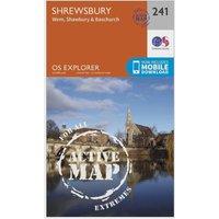 Ordnance Survey Explorer Active 241 Shrewsbury, Wem, Shawbury & Baschurch Map With Digital Version, D/D