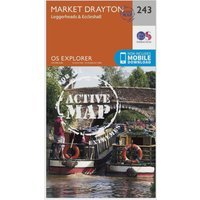Ordnance Survey Explorer Active 243 Market Drayton, Loggerheads & Eccleshall Map With Digital Version, Orange