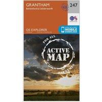 Ordnance Survey Explorer Active 247 Grantham Map With Digital Version, Orange
