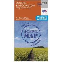 Ordnance Survey Explorer Active 248 Bourne & Heckington Map With Digital Version, N/A