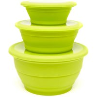 Outwell Collapsible Bowl Set - Green, Green