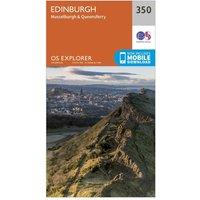 Ordnance Survey Explorer 350 Edinburgh Map With Digital Version, Orange