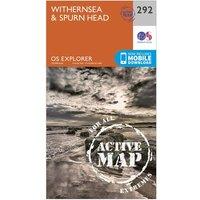 Ordnance Survey Explorer Active 292 Withernsea & Spurn Head Map With Digital Version, Orange