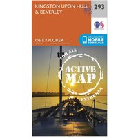 Ordnance Survey Explorer Active 293 Kingston upon Hill & Beverley Map With Digital Version, Orange