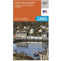 Ordnance Survey Explorer 357 Kintyre North Map With Digital Version, Orange