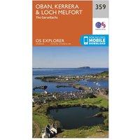Ordnance Survey Explorer 359 Oban, Kerrera & Loch Melfort Map With Digital Version, N/A