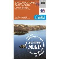 Ordnance Survey Explorer Active 318 Galloway Forest Park North Map With Digital Version, Orange