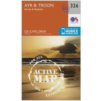Ordnance Survey Explorer Active 326 Ayr & Troon Map With Digital Version, Orange