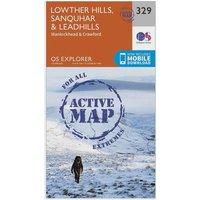 Ordnance Survey Explorer Active 329 Lowther Hills, Sanquhar & Leadhills Map With Digital Version - Orange, Orange