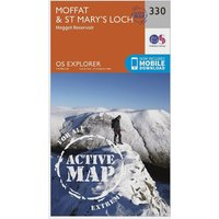 Ordnance Survey Explorer Active 330 Moffat & St Marys Loch Map With Digital Version, Orange