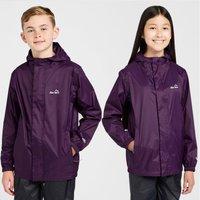 Peter Storm Kid's Hooded Packable Waterproof Jacket, Purple