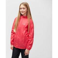 Peter Storm Girls Hooded Packable Waterproof Jacket, Pink