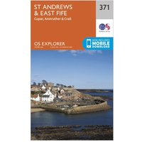 Ordnance Survey Explorer 371 St Andrews & East Fife Map With Digital Version, Orange