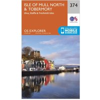 Ordnance Survey Explorer 374 Isle of Mull North & Tobermory Map With Digital Version, Orange