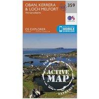 Ordnance Survey Explorer Active 359 Oban  KerreraandLoch Melfort Map With Digital Version  Orange