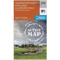 Ordnance Survey Explorer Active 370 Glenrothes North, Falkland & Lomond Hills Map With Digital Version, Orange