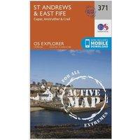 Ordnance Survey Explorer Active 371 St Andrews & East Fife Map With Digital Version, Orange