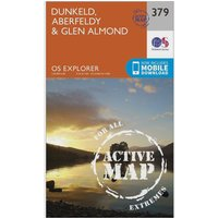 Ordnance Survey Explorer Active 379 Dunkfeld, Aberfeldy & Glen Almond Map With Digital Version, Orange