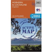 Ordnance Survey Explorer Active 383 Morvern & Lochaline Map With Digital Version, Orange