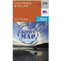 Ordnance Survey Explorer Active 398 Loch Morar & Mallaig Map With Digital Version, Orange
