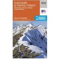 Ordnance Survey Explorer 414 Glan Shiel & Kintail Forest Map With Digital Version, Orange