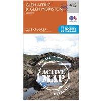 Ordnance Survey Explorer Active 415 Glen Affric & Glen Moriston Map With Digital Version, Orange