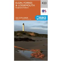 Ordnance Survey Explorer 423 Elgin, Forres & Lossiemouth Map With Digital Version, Orange