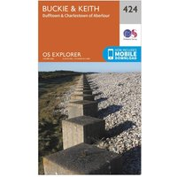 Ordnance Survey Explorer 424 Buckie & Keith Map With Digital Version, Orange