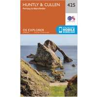 Ordnance Survey Explorer 425 Huntly & Cullen Map With Digital Version, Orange/D