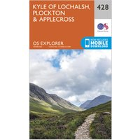 Ordnance Survey Explorer 428 Kyle of Lochalsh, Plockton & Applecross Map With Digital Version, Orange