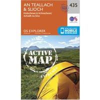 Ordnance Survey Explorer Active 435 An Teallach & Slioch Map With Digital Version, Orange