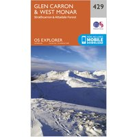 Ordnance Survey Explorer 429 Glen Carron & West Monar Map With Digital Version, Orange