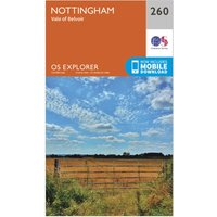 Ordnance Survey Explorer 260 Nottingham Map With Digital Version, Orange