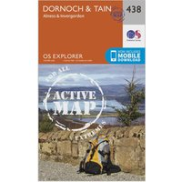 Ordnance Survey Explorer Active 483 Dornoch & Tain Map With Digital Version, Orange