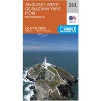 Ordnance Survey Explorer 262 Anglesey West Map With Digital Version, Orange