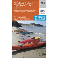 Ordnance Survey Explorer 263 Anglesey East Map With Digital Version, Orange