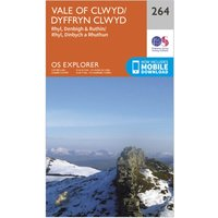 Ordnance Survey Explorer 264 Vale of Clwyd, Rhyl, Denbigh & Ruthin Map With Digital Version, Orange