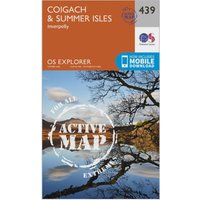 Ordnance Survey Explorer Active 439 Coigach & Summer Isles Map With Digital Version, Orange