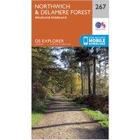 Ordnance Survey Explorer 267 Northwich & Delamere Forest Map With Digital Version, Orange