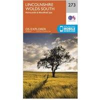 Ordnance Survey Explorer 273 Lincolnshire Wolds South Map With Digital Version, Orange