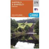 Ordnance Survey Explorer 178 Sheffield & Barnsley Map With Digital Version - Orange, Orange