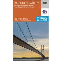 Ordnance Survey Explorer 281 Ancholme Valley Map With Digital Version - Orange, Orange