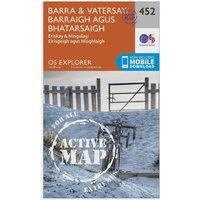 Ordnance Survey Explorer Active 452 Barra & Vatersay Map With Digital Version, D/D