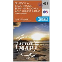 Ordnance Survey Explorer Active 453 Benbecula & South Uist Map With Digital Version, Orange