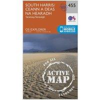 Ordnance Survey Explorer Active 455 South Harris Map With Digital Version, Orange