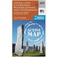 Ordnance Survey Explorer Active 459 Central Lewis & Stornaway Map With Digital Version - Orange, Orange
