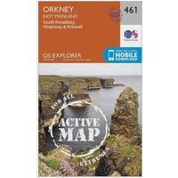 Ordnance Survey Explorer Active 461 Orkney - East Mainland Map With Digital Version, Orange
