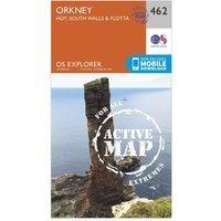 Ordnance Survey Explorer Active 462 Orkney - Hoy, South Walls & Flotta Map With Digital Version, Orange