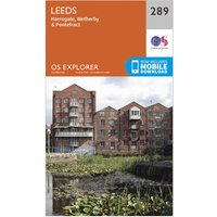 Ordnance Survey Explorer 289 Leeds Map With Digital Version, Orange